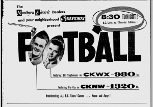 CKWX CKNW ad p19 Vancouver Sun Aug 4 1956